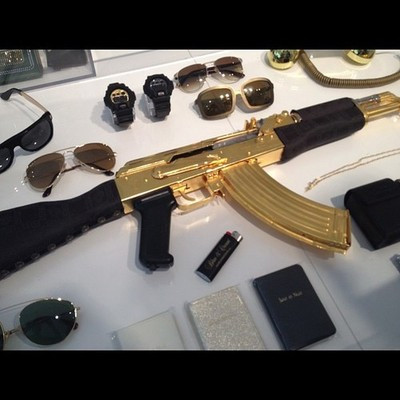 Gold-plated AK-47