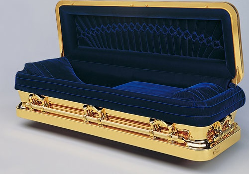 Gold-plated Coffin