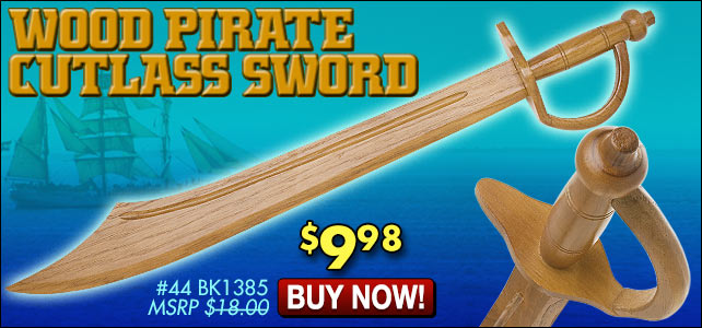 Wooden Pirate Cutlass Sword
