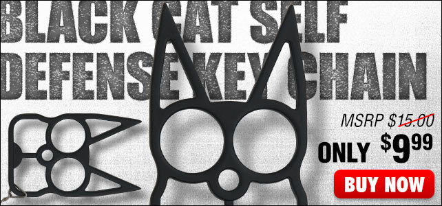 Black Cat Self Defense Key Chain