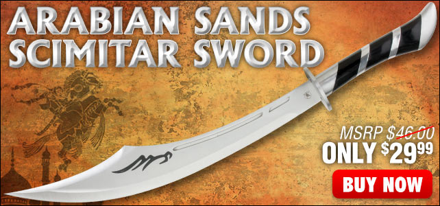 Arabian Sands Scimitar Sword With Sheath
