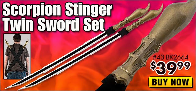 Scorpion Stinger Twin Sword Set