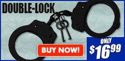 Double Lock Black Handcuffs