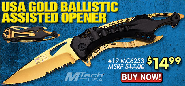 MTech USA Gold Assisted Opening Knife