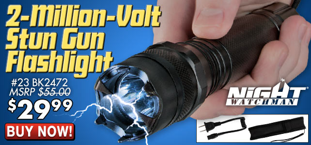 Night Watchman Stun Gun Flashlight